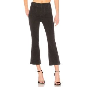 Free People Pull-On Crop Boot Jeans Black